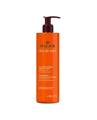 NUXE REVE DE MIEL Ultrabogaty żel do mycia twarzy i ciała - 400 ml - cena, stosowanie, opinie