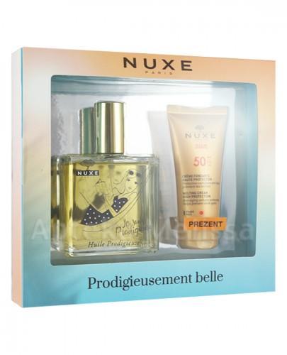 NUXE Huile Prodigieuse Suchy olejek 100ml + Nuxe Sun Krem do opalania twarzy SPF50 - 50ml - Apteka internetowa Melissa