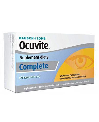 OCUVITE COMPLETE - 60 kaps. Data ważności 2021.07.31 - Apteka internetowa Melissa