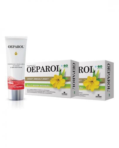OEPAROL - 2 x 60 kaps. + OEPAROL ELIFTANCE 50+ Ujędrniająca maska-krem na dłonie z lipo-peptydami - 75 ml - Apteka internetowa Melissa