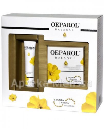 OEPAROL BALANCE Krem kondycjonująco-nawilżający z olejem z nasion wiesiołka - 50 ml + Krem regenerujący pod oczy z olejem z nasion wiesiołka - 15 ml - Apteka internetowa Melissa