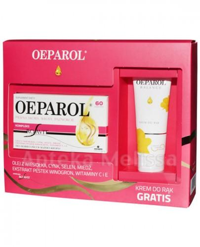OEPAROL Piękna skóra, włosy, paznokcie - 60 kaps. + OEPAROL BALANCE Krem do rąk - 75 ml Data ważności: 2017.08.12 - Apteka internetowa Melissa