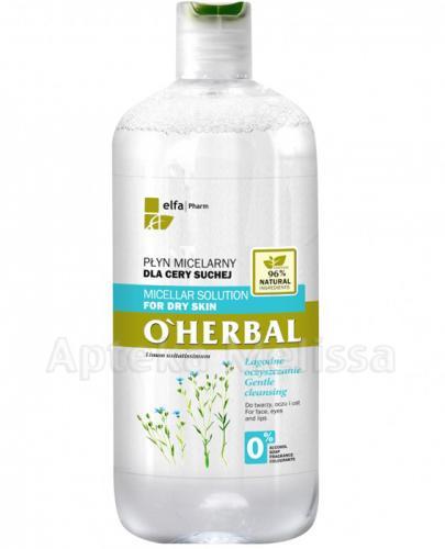 O`HERBAL Płyn micelarny do cery suchej z ekstraktem z lnu - 500 ml - Apteka internetowa Melissa
