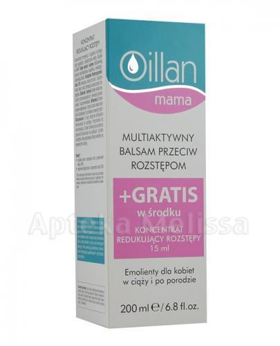 OILLAN MAMA Multiaktywny balsam przeciw rozstępom - 200 ml + Koncentrat redukujący rozstępy - 15 ml GRATIS - Apteka internetowa Melissa