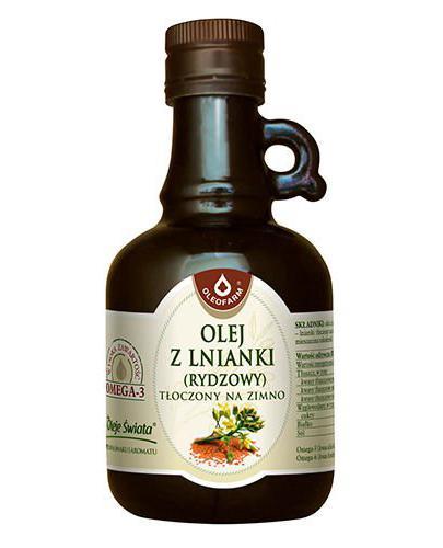 Olej z lnianki tłoczony na zimno - 250 ml - Apteka internetowa Melissa