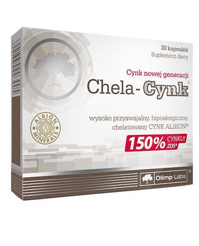 OLIMP CHELA CYNK 75 mg - 30 kaps. - cena, opinie, składniki - Drogeria Melissa