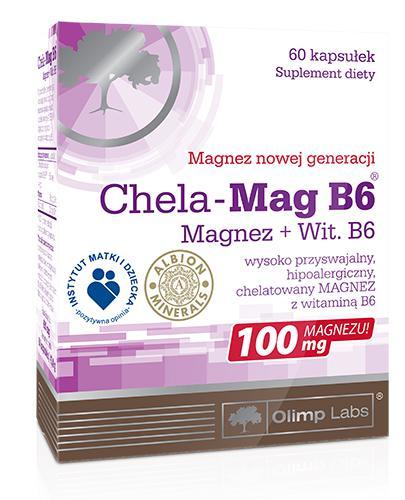 OLIMP CHELA MAG B6 Magnez + Witamina B6 - 60 kaps. - Drogeria Melissa