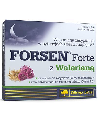 Olimp Labs Forsen Forte z Walerianą - Na Sen - 30 kaps. - cena, opinie, dawkowanie - Drogeria Melissa