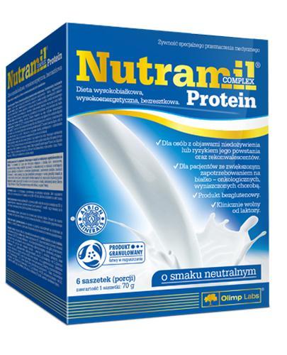 OLIMP NUTRAMIL COMPLEX PROTEIN O smaku neutralnym - 6 sasz.