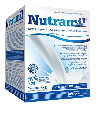 OLIMP NUTRAMIL Dieta kompletna wysokoenergetyczna, bezresztkowa smak neutralny - 7 sasz. - Apteka internetowa Melissa