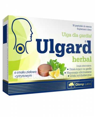 OLIMP ULGARD HERBAL O smaku ziołowo-cytrynowym - 16 past. - Apteka internetowa Melissa