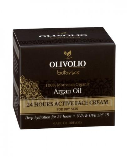 OLIVOLIO BOTANICS Arganowy aktywny nawilżająco-odżywczy krem do twarzy 24h z koenzymem Q10  SPF 15 - 50 ml  - Apteka internetowa Melissa