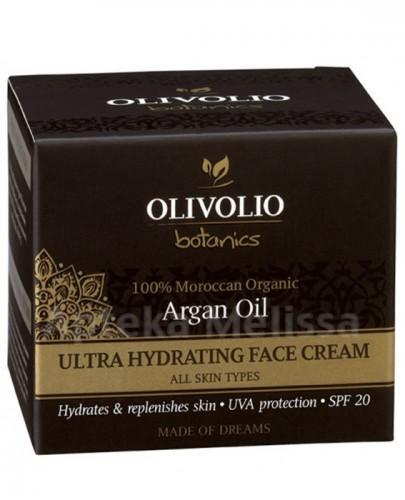 OLIVOLIO ARGAN OIL Intensywnie nawilżający krem do twarzy z olejem arganowym SPF20 - 50 ml - Apteka internetowa Melissa