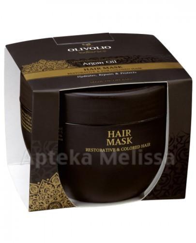 OLIVOLIO ARGAN OIL Maska do włosów odbudowdująca i do farbowanych - 250 ml - Apteka internetowa Melissa
