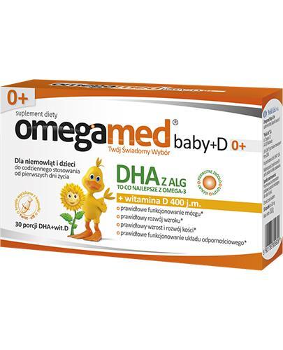 OMEGAMED Baby DHA z alg + Wit D Dla niemowląt i dzieci - 30 kaps. - cena, opinie, wskazania - Apteka internetowa Melissa