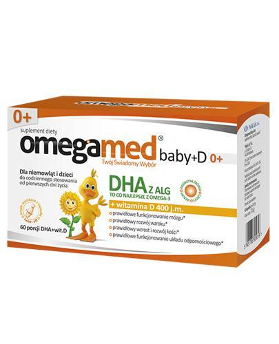 OMEGAMED Baby DHA z alg + Wit D Dla niemowląt i dzieci - 60 kaps. - cena, opinie, dawkowanie