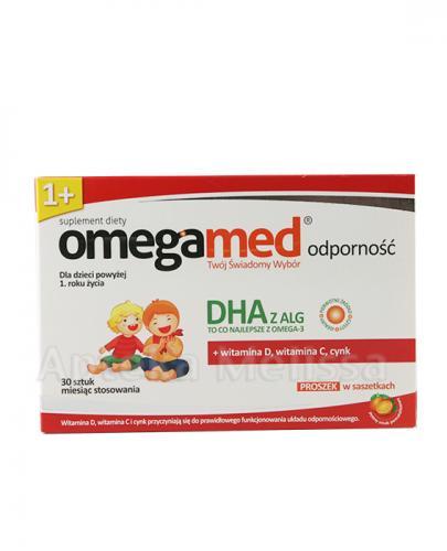 Omegamed Odporność Dla dzieci powyżej 1 roku życia smak pomarańczowy- Apteka internetowa Melissa