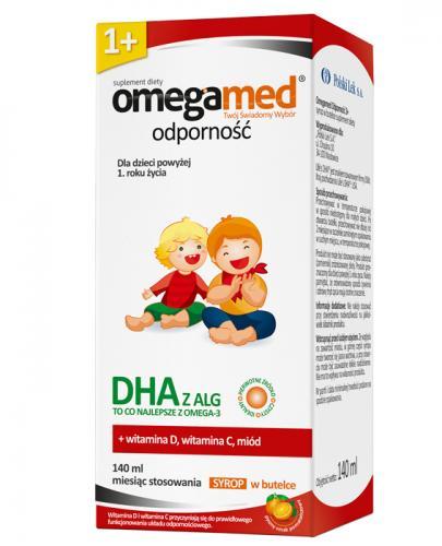 OMEGAMED ODPORNOŚĆ Syrop dla dzieci powyżej 1 roku życia - 140 ml - cena, stosowanie, opinie  - Drogeria Melissa