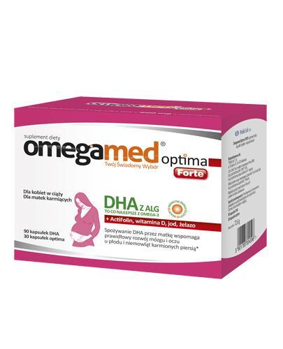 OMEGAMED OPTIMA FORTE Dla kobiet w ciąży - 120 kaps. - cena, opinie, działanie