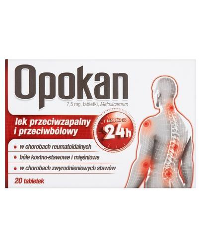OPOKAN 7,5 mg - 20 tabl. - cena, opinie, wskazania - Apteka internetowa Melissa