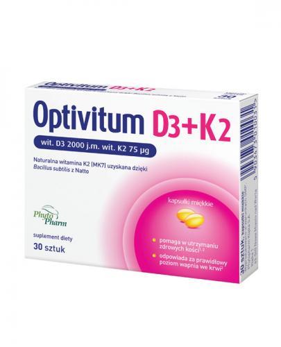 OPTIVITUM D3+K2 - 30 kaps. - Apteka internetowa Melissa
