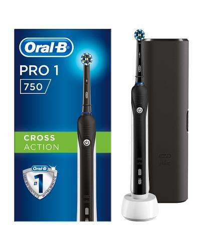 ORAL-B Akumulatorowa szczoteczka elektryczna PRO750 3D Black- 1 szt. - cena, stosowanie, opinie  - Apteka internetowa Melissa