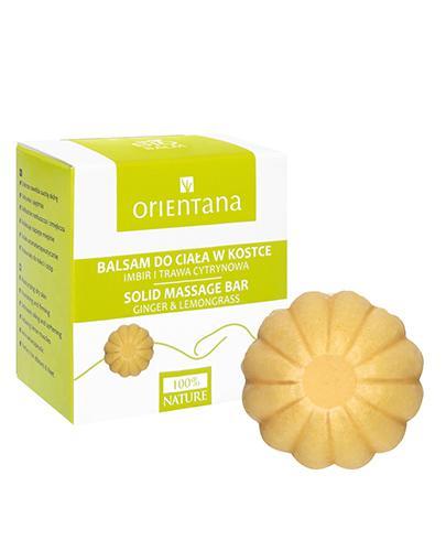 ORIENTANA Balsam do ciała w kostce Imbir i trawa cytrynowa - 60 g