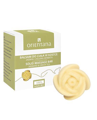 ORIENTANA Balsam do ciała w kostce Jaśmin i zielona herbata - 60 g