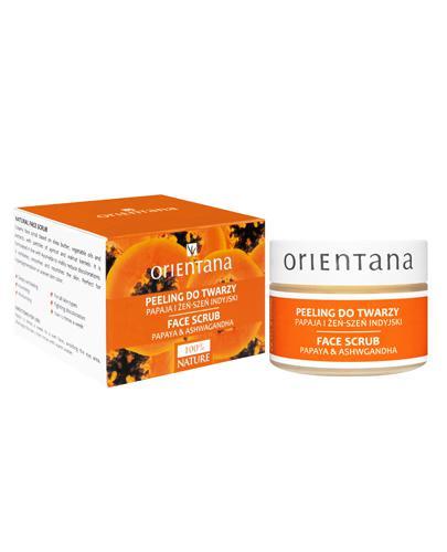 ORIENTANA Naturalny peeling kremowy do twarzy papaja i żeń-szeń indyjski - 50 g - Apteka internetowa Melissa