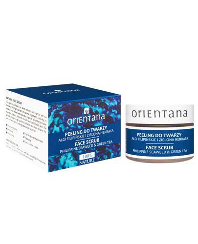 ORIENTANA Naturalny żelowy peeling do twarzy algi filipińskie i zielona herbata - 50 g