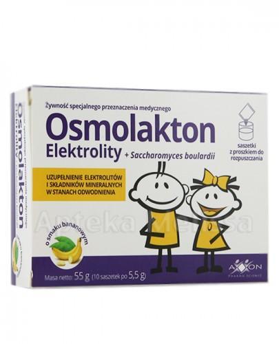 OSMOLAKTON Elektrolity o smaku bananowym - 10 sasz.  - Apteka internetowa Melissa