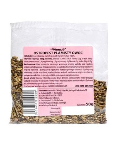 OSTROPEST PLAMISTY Owoc zioła do kąpieli - 50 g - Apteka internetowa Melissa