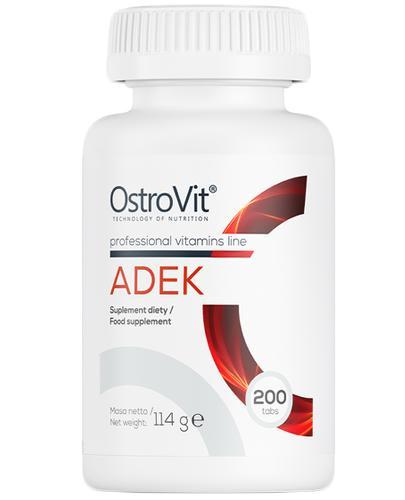 OstroVit ADEK - 200 tabl. - cena, opinie, dawkowanie - Drogeria Melissa