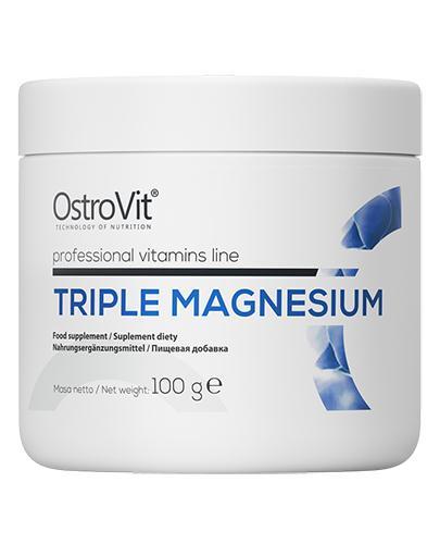OstroVit Triple Magnesium - 100 g - cena, opinie, składniki - Apteka internetowa Melissa