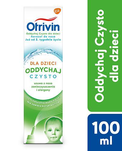 Otrivin Oddychaj Czysto Aerozol do nosa dla dzieci - 100 ml - cena, opinie, właściwości - Apteka internetowa Melissa