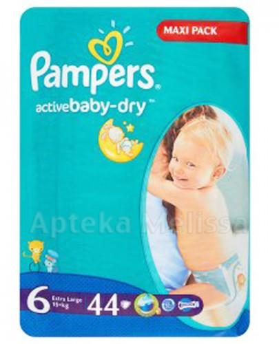 PAMPERS ACTIVE BABY DRY 6 EXTRA LARGE 15+ Pieluchy - 44 szt. - Apteka internetowa Melissa