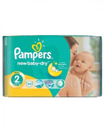 PAMPERS NEW BABY-DRY 2 MINI 3-6 kg Pieluchy - 43 szt.