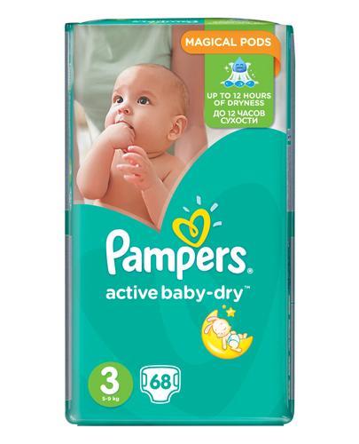 PAMPERS ACTIVE BABY-DRY 3 MIDI 4-9 kg Pieluchy - 68 szt. - Apteka internetowa Melissa