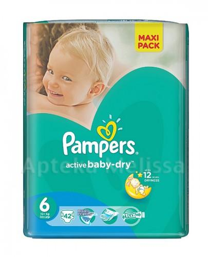PAMPERS ACTIVE BABY-DRY 6 EXTRA LARGE 15+ kg Pieluchy - 42 szt. - Apteka internetowa Melissa