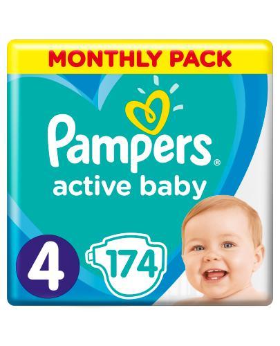 PAMPERS ACTIVE BABY 4 MAXI Pieluchy 9-14 kg - 174 szt. - Apteka internetowa Melissa
