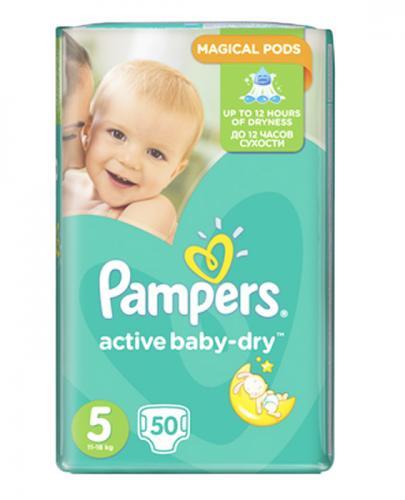 PAMPERS ACTIVE BABY-DRY 5 JUNIOR 11-18 kg Pieluchy - 50 szt. - Apteka internetowa Melissa