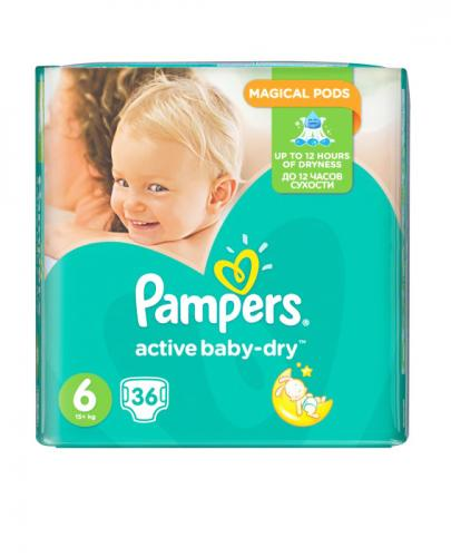 PAMPERS ACTIVE BABY DRY 6 EXTRA LARGE Pieluchy 15+ kg - 36 szt.