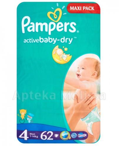 Pampers ActiveBaby Dry 4 Maxi 62 szt.