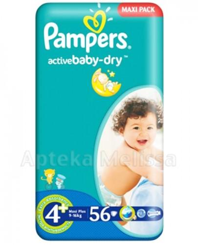 PAMPERS ACTIVE BABY-DRY 4+ MAXI PLUS 9-16 kg Pieluchy - 56 szt.
