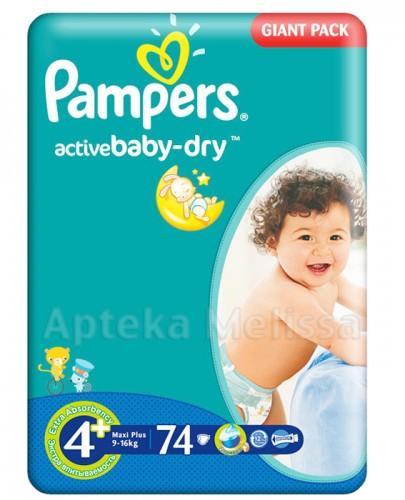PAMPERS ACTIVE BABY DRY 4 MAXI PLUS 9-16 kg Pieluchy - 74 szt. - Apteka internetowa Melissa