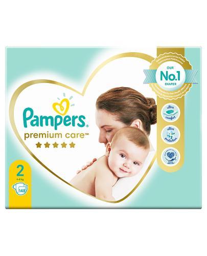 Pampers Pieluchy Premium Care rozmiar 2, 148 sztuk pieluszek - cena, opinie, właściwości - Drogeria Melissa