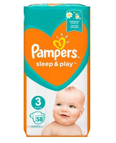 PAMPERS SLEEP&PLAY 3 MIDI 4-9 kg Pieluchy - 58 szt. - Apteka internetowa Melissa