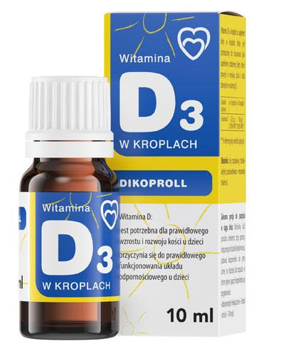 Panawit Dikoproll Witamina D3 w kroplach - 10 ml - cena, opinie, właściwości  - Drogeria Melissa