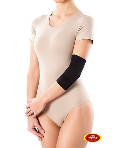 Pani Teresa Opaska elastyczna stawu łokciowego bezszwowa czarna rozmiar S - 1 szt. - cena, opinie, wskazania - Drogeria Melissa