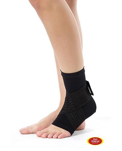 Pani Teresa Opaska elastyczna stawu skokowego bezszwowa czarna rozmiar L - 1 szt. - cena, opinie, wskazania - Apteka internetowa Melissa